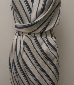 JV LINEN AND COTTON FAUX WRAP DRESS