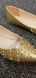 Auyi Studded Diamonte Shoes