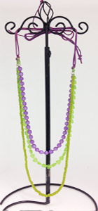 Purple green combo necklace