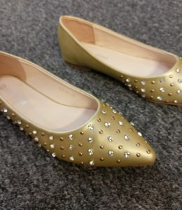 Auyi Studded Diamonte Shoes