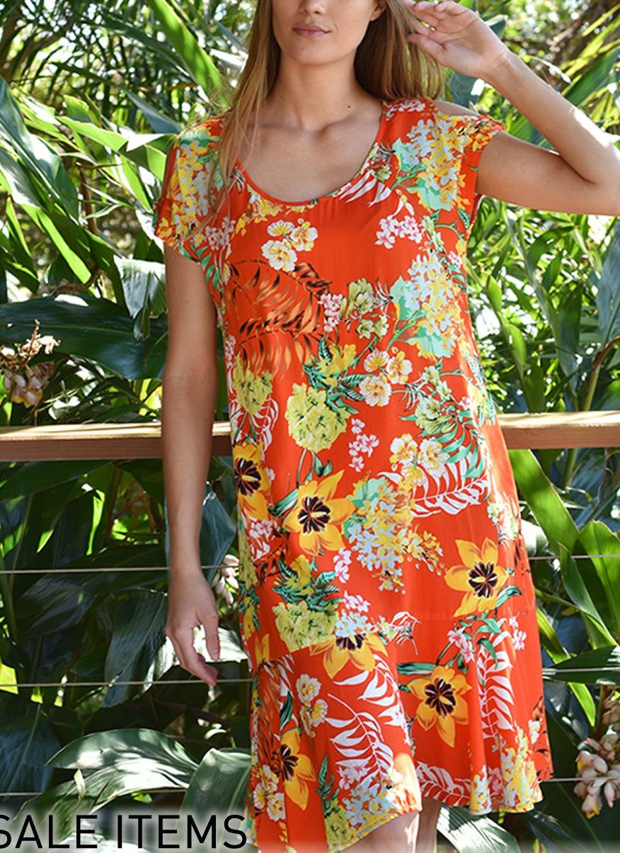 orange zen dress