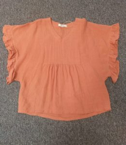 WORTHIER LINEN TOP with frill