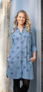 ORIENTIQUE DENIM DRESS