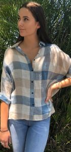 WORTHIER LINEN CHECK SHIRT