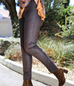LEATHERETTE PULL ON PANT