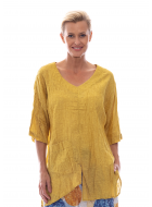 SEQUEL COTTON/LINEN TUNIC TOP