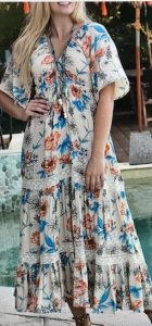 Zen Garden Sacred Stems Maxi Dress