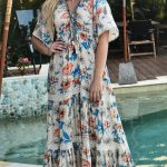 sacred stems maxi dress