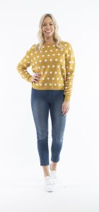 ORIENTIQUE SPOT KNIT JUMPER